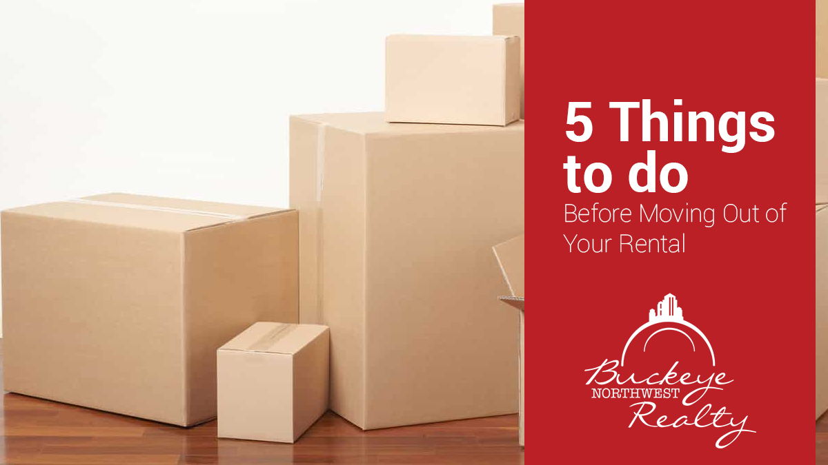 5 Things to do Before Moving Out of Your Rental
